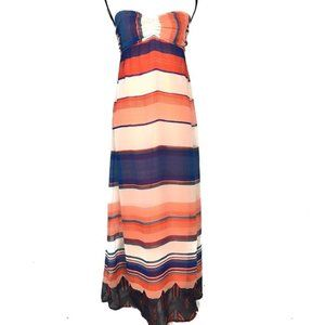 LOVE FIRE summer strapless tie back maxi Size S